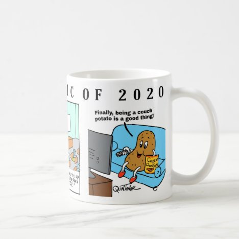 THE PANDEMIC OF 2020 MUG WITH 3 COMICS