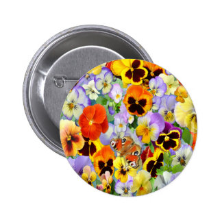 The Pansy Collection Pinback Button