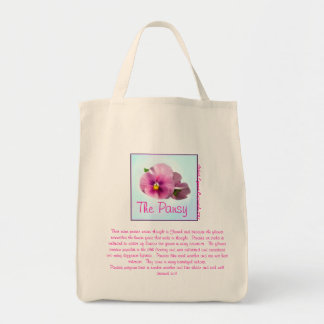 The Pansy Flower Bag