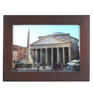 The Pantheon and its famous square in Rome, Italy Memory Box