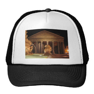 The Pantheon and the Fontana del Pantheon in Rome Trucker Hat