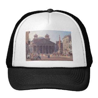 The Pantheon and the Piazza della Rotonda in Rome Trucker Hat