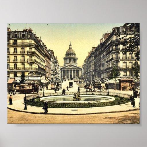The Pantheon and the rue Soufflot, Paris, France c Print