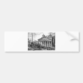 The Pantheon in Rome, drawing by Leitch Bumper Sticker