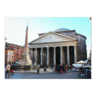 """The Pantheon in Rome, Italy 5"""" X 7"""" Invitation Card"""