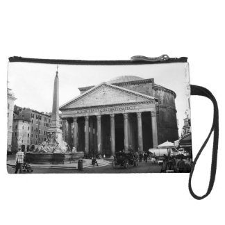 The Pantheon in Rome, Italy Suede Wristlet Wallet