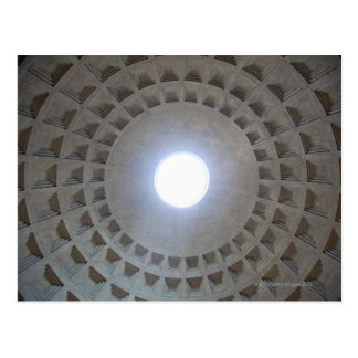 The Pantheon is constructed according to the Postcard