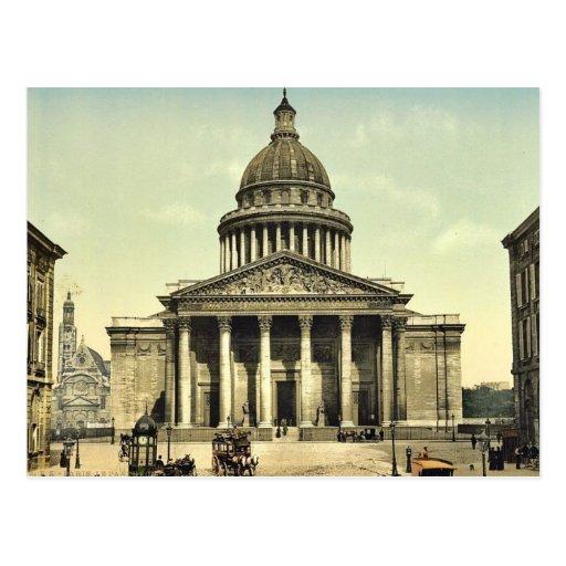 The Pantheon, Paris, France classic Photochrom Post Card