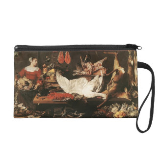 The Pantry by Frans Snyders Wristlet Purses