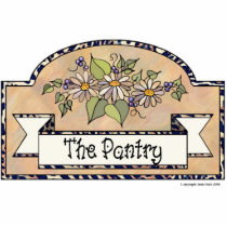 """The Pantry"" - Decorative Sign Statuette"