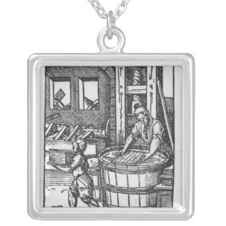 The Paper Maker Silver Plated Necklace