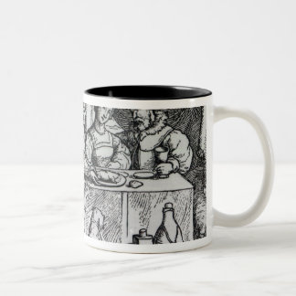 The Parable of Lazarus and Dives Two-Tone Coffee Mug