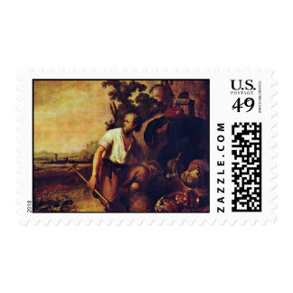 The Parable Of The Hidden Treasure. By Rembrandt Postage