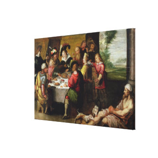 The Parable of the Rich Man and Lazarus Canvas Print