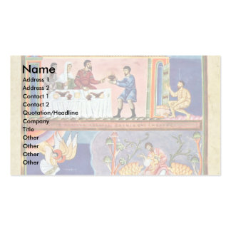 The Parable Of The Rich Man And Lazarus Folio 78 R Double-Sided Standard Business Cards (Pack Of 100)