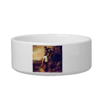 The parable of the treasure graves by Rembrandt Cat Bowl