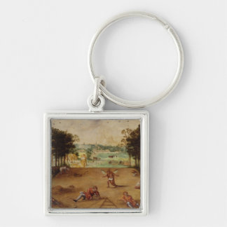 The Parable of the Wheat and the Tares, 1540 Silver-Colored Square Keychain