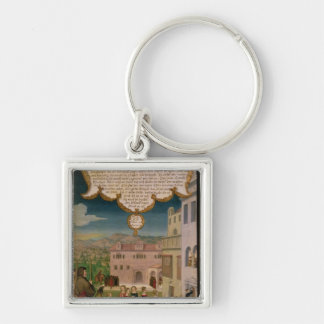 The Parable of the Wise and Foolish Virgins Silver-Colored Square Keychain