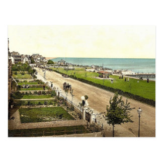 The parade, Clacton-on-Sea, England classic Photoc Postcard