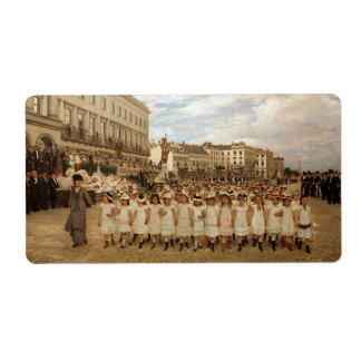 The Parade of the Schools by Jan Verhas Label