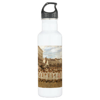 The Parade of the Schools by Jan Verhas Stainless Steel Water Bottle