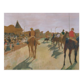 The Parade or Race Horses in front of the Stands Post Card