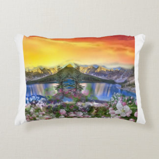 The paradise exists on the Earth. Accent Pillow
