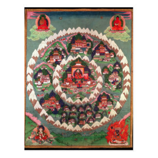 The Paradise of Shambhala, Tibetan Banner Postcard