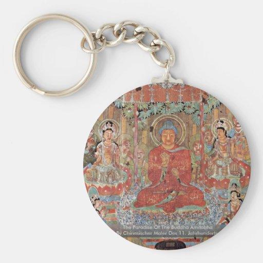 The Paradise Of The Buddha Amitabha Key Chain