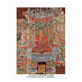The Paradise Of The Buddha Amitabha Post Card