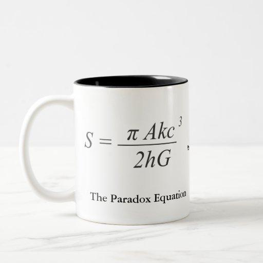 The Paradox Equation Coffee Mug