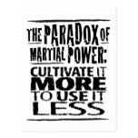 The Paradox of Martial Power Post Card