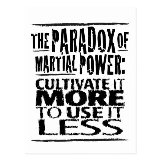 The Paradox of Martial Power Postcard