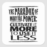 The Paradox of Martial Power Stickers
