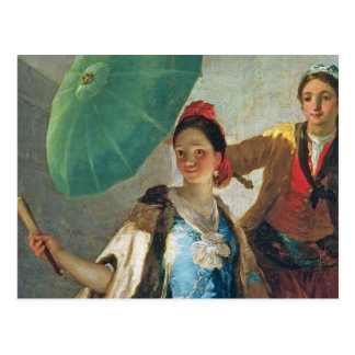 The Parasol, 1777 (oil on canvas) Postcard