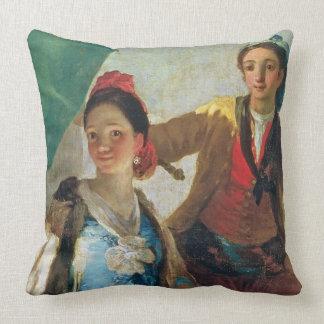 The Parasol, 1777 (oil on canvas) Throw Pillow