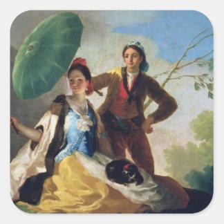 The Parasol, 1777 Square Sticker