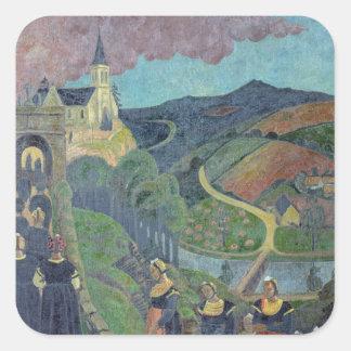 The Pardon of Notre-Dame-des-Portes at Square Sticker