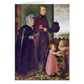 The Parents Of The Artist By Philipp Otto Runge Greeting Card