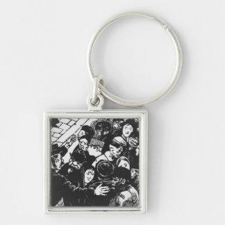 The Paris crowd, 1892 Key Chain