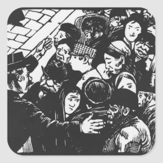 The Paris crowd, 1892 Square Sticker