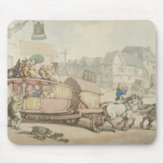 The Paris Diligence (pen & ink and w/c on paper) Mouse Pad