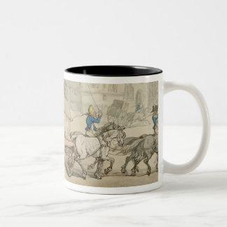 The Paris Diligence (pen & ink and w/c on paper) Two-Tone Coffee Mug