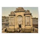 The Paris Gate, Lille, France classic Photochrom Greeting Cards