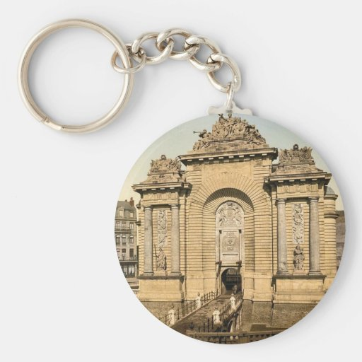 The Paris Gate, Lille, France classic Photochrom Key Chains