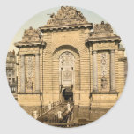 The Paris Gate, Lille, France classic Photochrom Round Stickers