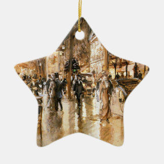 The Paris night Ceramic Ornament