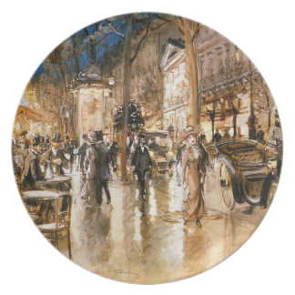 The Paris night Melamine Plate