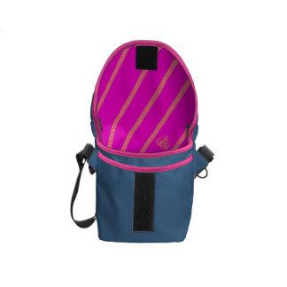 The Paris tsu po it is (- ish) color striped Messenger Bag