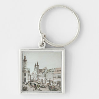The Parish Church and Cemetery of Fauxbourg Keychain